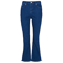 Buy Whistles Raw Hem Cropped Cigarette Jeans, Denim Online at johnlewis.com