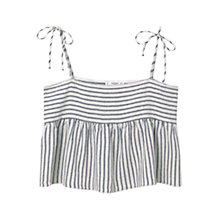 Buy Mango Striped Cotton Top, Natural White Online at johnlewis.com