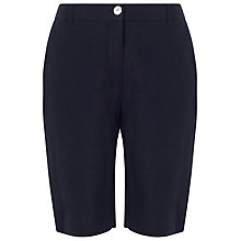 Buy Precis Petite Linen Shorts, Navy Online at johnlewis.com