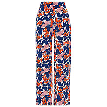 Buy Whistles Damson Print Crop Trousers, Multicolour Online at johnlewis.com