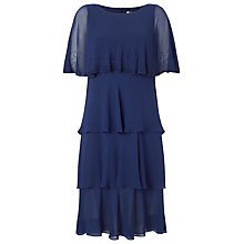 Buy Jacques Vert Lorcan Layer Chiffon Dress, Navy Online at johnlewis.com