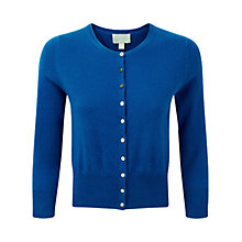 Buy Pure Collection Haley Cashmere Cropped Cardigan, Oxford Blue Online at johnlewis.com