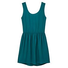 Buy Mango Cut Out Back Dress, Bright Green Online at johnlewis.com