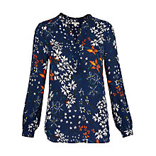 Buy Whistles Bluebell Print Blouse, Blue/Multi Online at johnlewis.com