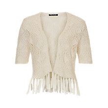 Buy Betty Barclay Fringed Cardigan, Dark Cream Online at johnlewis.com