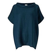Buy East Bardot Neck Top, Blue Online at johnlewis.com