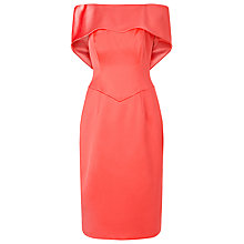 Buy Jacques Vert Lorcan Bardot Bow Back Dress, Burnt Orange Online at johnlewis.com