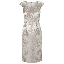 Buy Jacques Vert Jacquard Dress, Light Grey Online at johnlewis.com