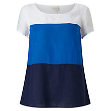 Buy East Colour Block Top, Ink Online at johnlewis.com