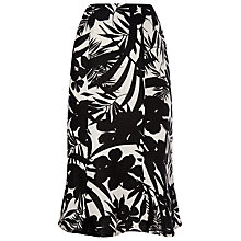 Buy Precis Petite Palm Print Skirt, Multi Black Online at johnlewis.com