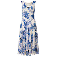 Buy Jacques Vert Floral Print Shift Dress, Multi Blue Online at johnlewis.com
