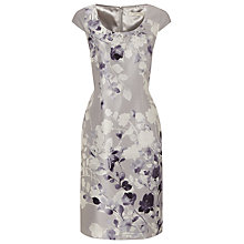 Buy Jacques Vert Silhouette Stem Dress, Light Grey Online at johnlewis.com