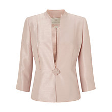 Buy Jacques Vert Ribbon Button Jacket, Light Pink Online at johnlewis.com