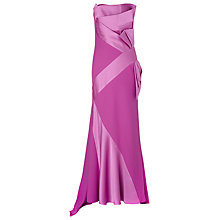 Buy Jacques Vert Lorcan Satin Crepe Bow Gown, Mid Pink Online at johnlewis.com