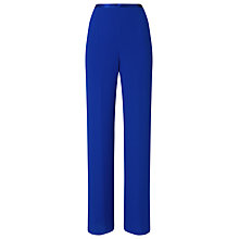 Buy Jacques Vert Satin Waistband Trousers, Blue Online at johnlewis.com