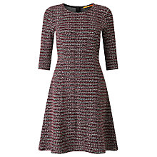 Buy BOSS Orange Dacoco Stripe Boucle Effect Dress, Multi Online at johnlewis.com