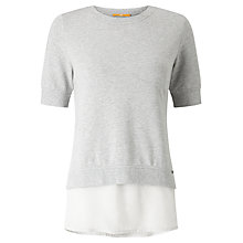 Buy BOSS Orange Texplora Double Layer Jersey Top, Grey Online at johnlewis.com