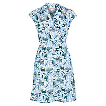 Buy Louche Zinnie Hibiscus Dress, Blue Online at johnlewis.com