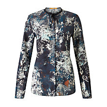 Buy BOSS Orange Callai Printed Silk Blouse, Multi Online at johnlewis.com