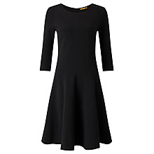 Buy BOSS Orange Dipleat Ribbed Jersey Dress, Black Online at johnlewis.com