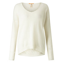 Buy BOSS Orange Wiltora Cable Back Jumper, Natural Online at johnlewis.com