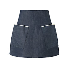 Buy Waven Ina A-Line Mini Skirt, Indigo Raw Online at johnlewis.com