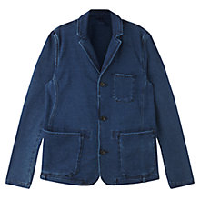 Buy Jigsaw Cotton Jersey Blazer, Indigo Online at johnlewis.com