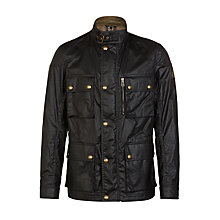 Buy Belstaff Trialmaster 4-Pocket Water-Resistant Waxed Jacket, Black Online at johnlewis.com