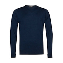 Buy John Smedley Marcus Merino Wool Jumper Indigo Online at johnlewis.com