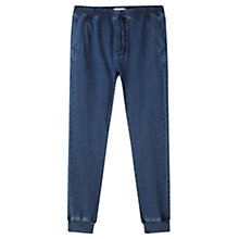 Buy Jigsaw Cotton Jersey Jogging Trousers, Indigo Online at johnlewis.com