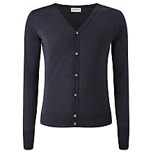 Buy John Smedley Bryn Merino Wool Cardigan, Hepburn Smoke Online at johnlewis.com