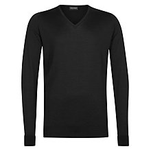 Buy John Smedley Bobby Merino Wool V-Neck Jumper Online at johnlewis.com