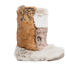 Buy Bedroom Athletics Florence Faux Fur Slipper Boots, Patchwork Ferrett Online at johnlewis.com