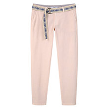 Buy Mango Cotton Chinos, Light Pastel Pink Online at johnlewis.com