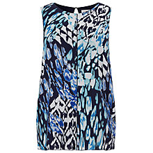Buy Windsmoor Animal Printed Blouse, Blue/Multi Online at johnlewis.com