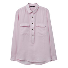Buy Mango Chest Pocket Cotton Shirt, Pastel Purple Online at johnlewis.com