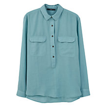 Buy Mango Chest Pocket Cotton Shirt, Aqua Online at johnlewis.com
