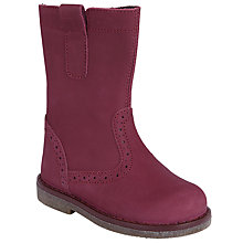 Buy John Lewis Children's Isobel Boots, Fuxia Pink Online at johnlewis.com