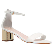 Buy Carvela Kandle Block Heeled Sandals, White Leather Online at johnlewis.com