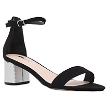 Buy Carvela Kandle Block Heeled Sandals, Black Suedette Online at johnlewis.com