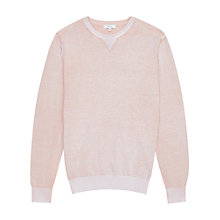 Buy Reiss Tackler Light Crew Jumper, Rose Online at johnlewis.com