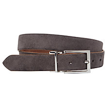 Buy Reiss Whit Reversible Suede Belt, Grey Online at johnlewis.com