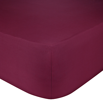 John Lewis Perfectly Smooth 200 Thread Count Egyptian Cotton Standard Fitted Sheet