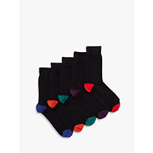 Buy John Lewis Heel and Toe Socks, Pack of 5 Online at johnlewis.com