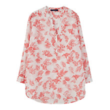 Buy Violeta by Mango Printed Cotton Blouse, Bright Red Online at johnlewis.com