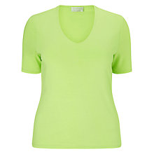 Buy Windsmoor Basic Jersey Top, Bright Green Online at johnlewis.com