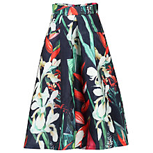 Buy Jolie Moi Floral 3D Skirt, Black Online at johnlewis.com