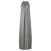 Buy Jigsaw Ikat Floral Silk Maxi Dress, Green Online at johnlewis.com