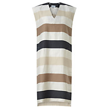 Buy Jigsaw Bold Stripe V Neck Dress, Multi Online at johnlewis.com