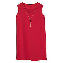 Buy Violeta by Mango Detachable Necklace Dress, Red Online at johnlewis.com